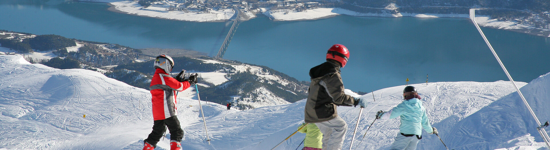 Réallon , le lac vu d'en haut